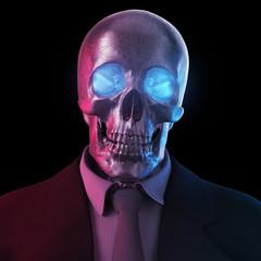 Totenkopf im Anzug 3D