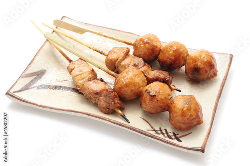 Yakitori, grilled meat on a stick