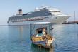 fishing boat and cruise ship