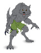 Classic Werewolf Vector Illustration