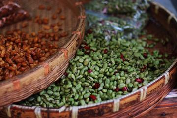 Фасоль на рынке в Шанхае