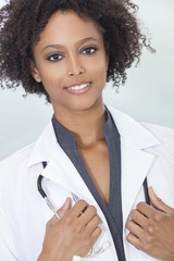 African American Female Woman Hospital Doctor
