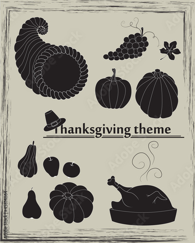 Thanksgiving theme in vector
