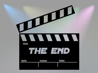Clapperboard The End