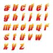 炎アルファベット小文字