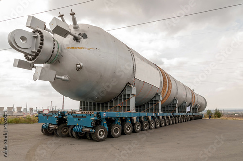 Transporting mega installation to refinery