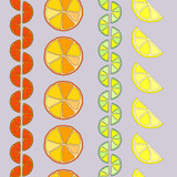 rows of citrus seamless pattern