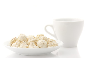 Almond cookies and cup
