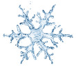 snowflake from water splash with bubbles