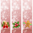 Christmas vintage vertical banners.
