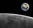 Blick vom Mond auf die Erde - Earth texture by NASA.gov