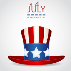 4 of July celebration hat icon.