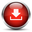 Vektor Download Button Rot