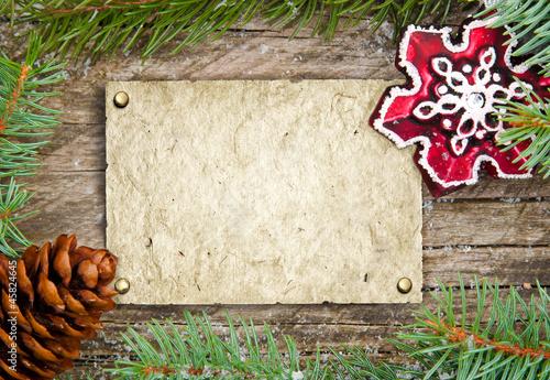 weihnachtlicher rahmen mit wunschzettel stockfotos und. Black Bedroom Furniture Sets. Home Design Ideas