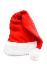 red santa hat - christmas or new year's concept for postcard iso