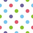 Seamless vector pattern or background big colorful polka dots