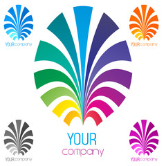 colorful business icon, logo