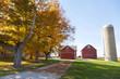 Traditional American Barn (Autumn Season)