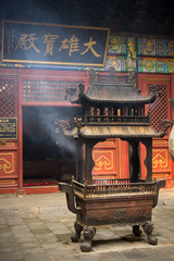 Incense holder in Chinese temple