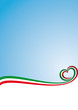 Abstract background Italian flag