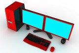 modern workstation poster