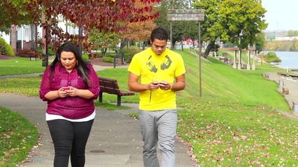 Walking while Texting