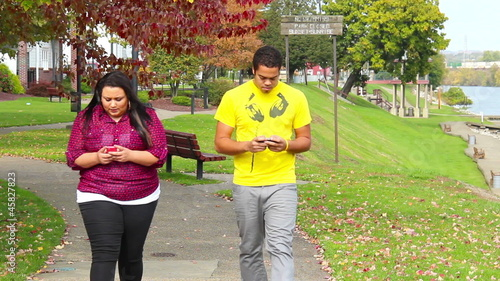 Walking while Texting