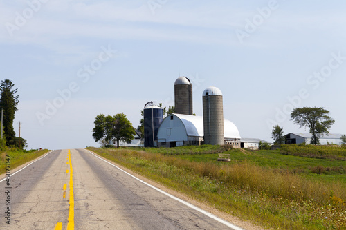 Countryside Road With Farm