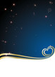 Abstract background heart stardust