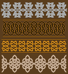 Set of celtic ornaments and patterns