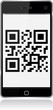 Smart phone display qr code