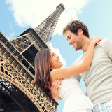 Paris Eiffel tower romantic couple - 45830067