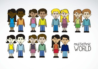 multicultural and multiethnic people