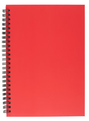 Spiral Bound Notepad with Red Cover