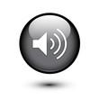 Black glossy speaker button