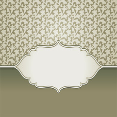 Vector vintage frame with copy space
