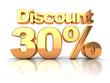 Discount 30 percent