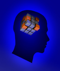 Head with cube