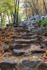 Stone steps in Baraboo, WI