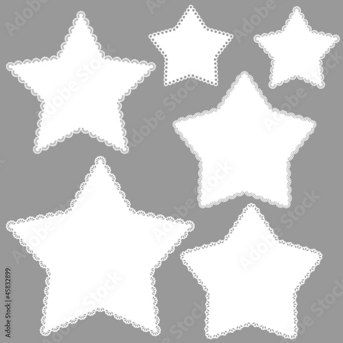 Set of stars with fretwork edges