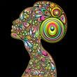 Woman Psichedelic Design Portrait-Donna Ritratto Psichedelico