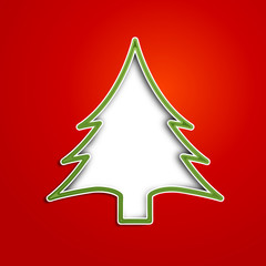 Vector Creative Christmas tree