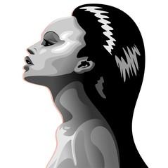 Beautiful Black Woman's Portrait-Ritratto Profilo bella Ragazza