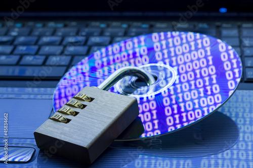 Leinwanddruck Bild Datensicherheit