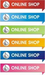 étiquettes online shop