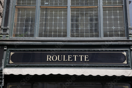 roulette sign at building facade