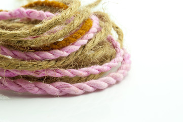 Whorl of hemp rope