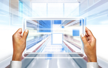computer technology in hands