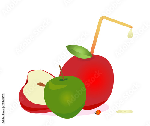 Apple juice, vector