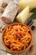 Malloreddus con pomodoro,salsiccia e peperoncino